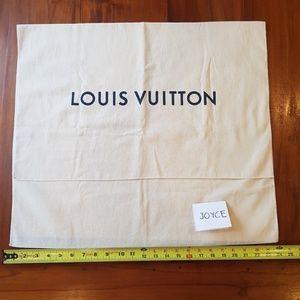 EUC Louis Vuitton extra large dustbag